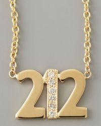 Zoe Chicco | Metallic Pave Diamond Area Code Necklace | Lyst