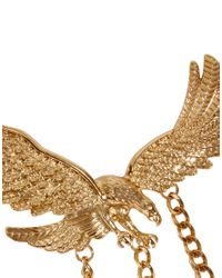ASOS - Metallic Statement Eagle Collar Brooches - Lyst