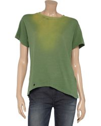 Current/Elliott Green The Game Distressed Cotton T-shirt