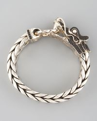 John Hardy Black Naga Dragon Head Bracelet