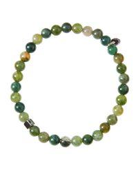 Tateossian - Green Bead Bracelet for Men - Lyst