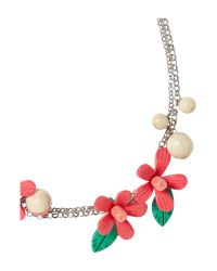 Weekend by Maxmara - Metallic Gisella Floral Beaded Necklace - Lyst