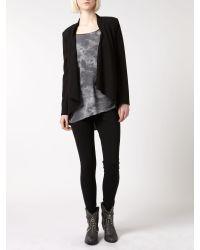 Label Lab Black Waterfall Zip Sleeve Blazer