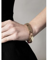 Lizzie Fortunato - Yellow Triple Box Chain and Thread Bracelet - Lyst