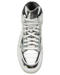 Alejandro Ingelmo Metallic Mid Top Tron Sneaker for men