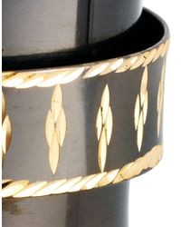 ASOS - Gray Etched Cuff Bracelet - Lyst