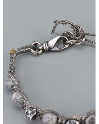 Emanuele Bicocchi - Metallic Skull Bracelet - Lyst