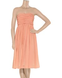 See By Chloé Pink Cotton and Silk-blend Georgette Dress