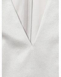 Alexander McQueen White Pique Jersey Peplum Top