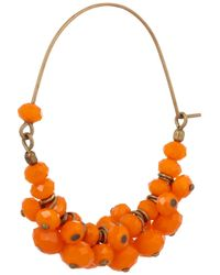 Isabel Marant | Orange Beaded Hoop Earrings | Lyst