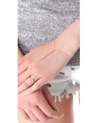 Kristen Elspeth - Metallic Monolith Finger Chain - Lyst