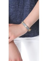 Marc By Marc Jacobs - Black Turnlock Charm Leather Bracelet - Lyst