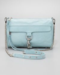 Rebecca Minkoff Blue Mac Clutch Crossbody Bag