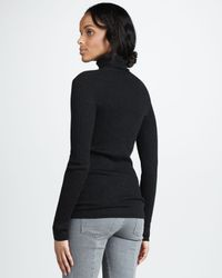 Vince Black Ribbed Turtleneck