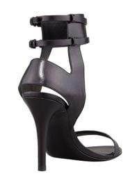 Alexander Wang Johanna Anklecuff Leather Sandal Black