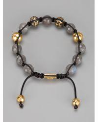 Nialaya - Metallic Beaded Bracelet for Men - Lyst