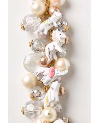 Anthropologie - White Snow Animal Charm Bracelet - Lyst