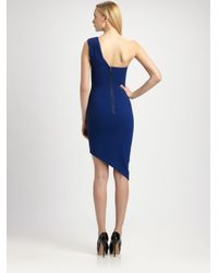 BCBGMAXAZRIA Blue Leslie Oneshoulder Dress