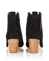 Karen Millen Black Double Zip Ankle Boot
