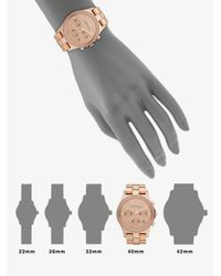 Marc By Marc Jacobs | Pink Henry Glitz Rose Goldtone Stainless Steel Chronograph Watch | Lyst