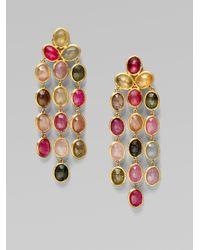 Marco Bicego | Metallic 18k Gold Multicolor Sapphire Chandelier Earrings | Lyst