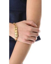 Rebecca Minkoff - Metallic Studded Id Plate Bracelet - Lyst