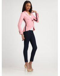 Smythe Pink Linen Tuxedo Blazer