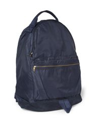 A.P.C. | Blue Suede Trimmed Backpack for Men | Lyst