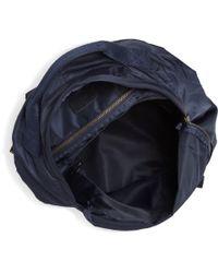 A.P.C. - Blue Suede Trimmed Backpack for Men - Lyst