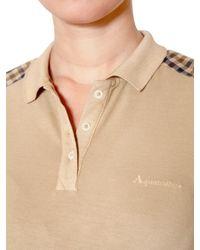 Aquascutum Natural Stretch Cotton Piquet Polo Shirt