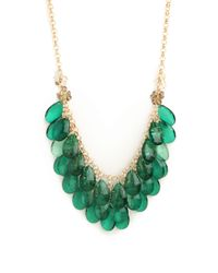 BaubleBar Green Jeweled Samba Necklace
