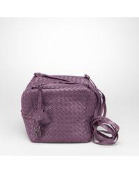 e8ba5bd7f8 Bottega Veneta. Women s Purple Shadow Intrecciato Nappa Cubo Cross Body Bag