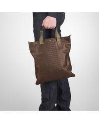 Bottega Veneta Brown Edoardo Light Calf Aquatre Bag for men