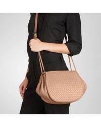 Bottega Veneta Pink Duchesse Intrecciato Nappa Cross Body Bag