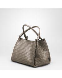 f5edcecacf Bottega Veneta Corot Intrecciato Nappa Parachute Bag in Brown - Lyst