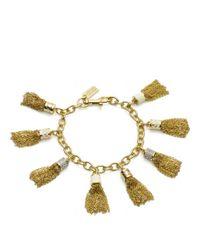 COACH | Metallic Multi Tassel Bracelet | Lyst
