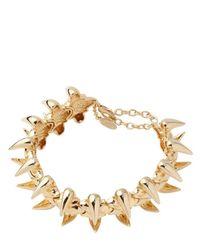 Giuseppe Zanotti Metallic Gold Plated Brass Vertebrae Necklace
