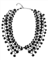 Jaeger | Black Beaded Collar Necklace | Lyst