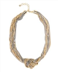 Jaeger | Metallic Knotted Snake Chain Necklace | Lyst