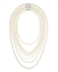 Jaeger - White Multistrand Pearl Necklace - Lyst