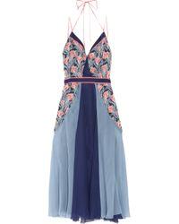 Jason Wu | Blue Floral-print Silk-chiffon Dress | Lyst