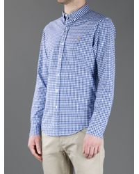 Polo Ralph Lauren Blue Fitted Classic-fit Spread-collar Gingham Dress Shirt for men