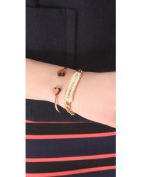 Rebecca Minkoff Metallic Pave Id Bracelet