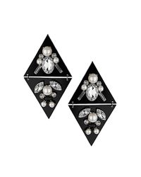 TOPSHOP | Black Perspex Diamond Earrings | Lyst