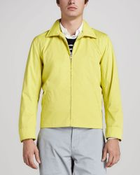 Vince Yellow Harrington Jacket for men