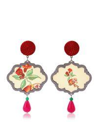 Anna E Alex Natural Marco Polo Silver Pomegranate Earrings