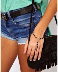 ASOS - Black Rosary Hand Harness - Lyst