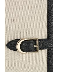 Bally | White Redgrave Leather-trimmed Canvas Clutch | Lyst