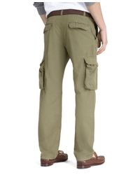 Brooks Brothers Green Milano Fit Winter Warrior Cargo Pants for men