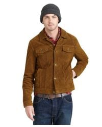 Brooks Brothers Brown Suede Jean Jacket for men